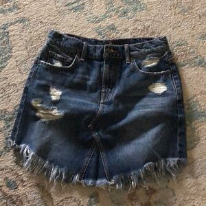 7 For All Mankind Jean skirt